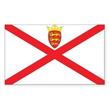 Jersey Flag Rectangle Decal