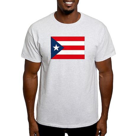 Puerto Rican Flag Ash Grey T-Shirt