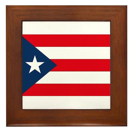 Puerto Rican Flag Framed Tile