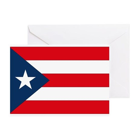 Puerto Rican Flag Greeting Cards (Pk of 10)