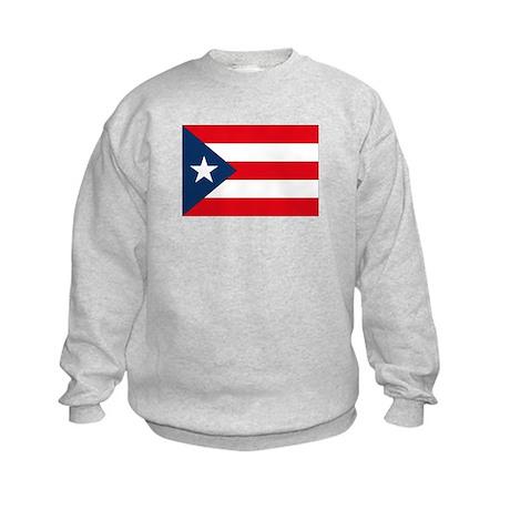 Puerto Rican Flag Kids Sweatshirt