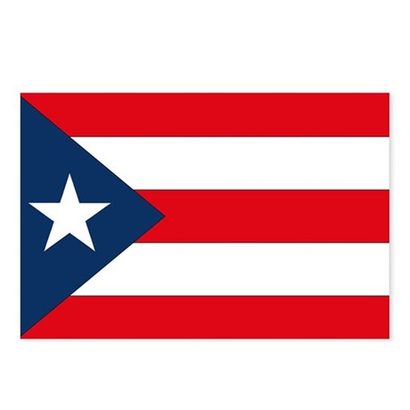 Puerto Rican Flag Postcards (Package of 8)