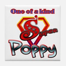 SUPER POPPY Tile Coaster