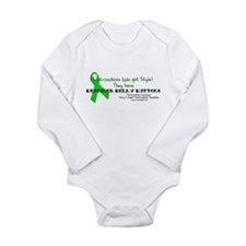 Designer Belly Button Long Sleeve Infant Bodysuit