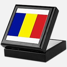 Romanian Flag Keepsake Box