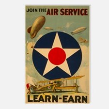 1917 WWI Poster Air Service Postcards (Package of