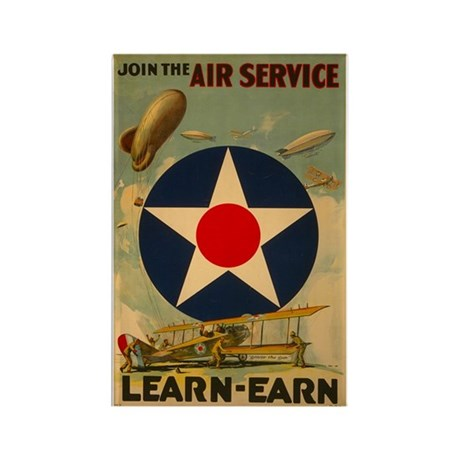 1917 WWI Poster Air Service Rectangle Magnet