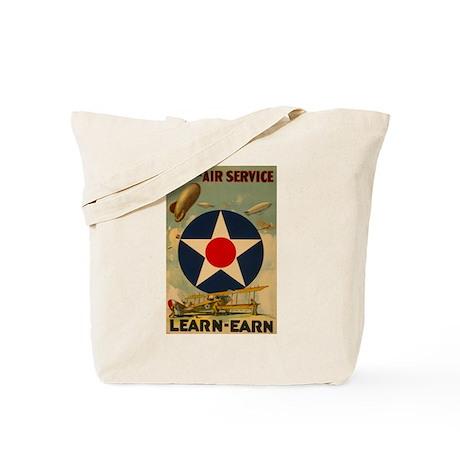 1917 WWI Poster Air Service Tote Bag