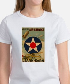 1917 WWI Poster Air Service Women's T-Shirt