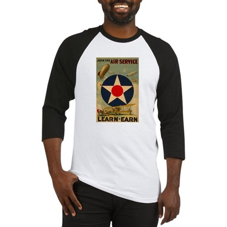 1917 WWI Poster Air Service Baseball Jersey