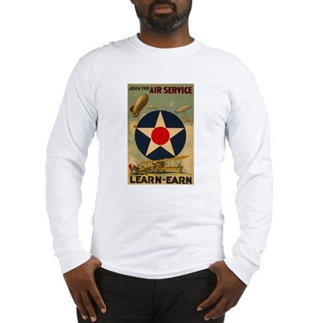 1917 WWI Poster Air Service Long Sleeve T-Shirt