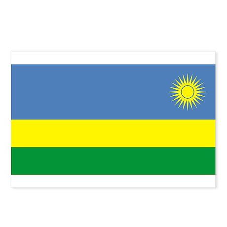 Rwandan Flag Postcards (Package of 8)