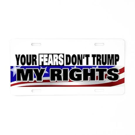 Constitutional Rights Aluminum License Plate