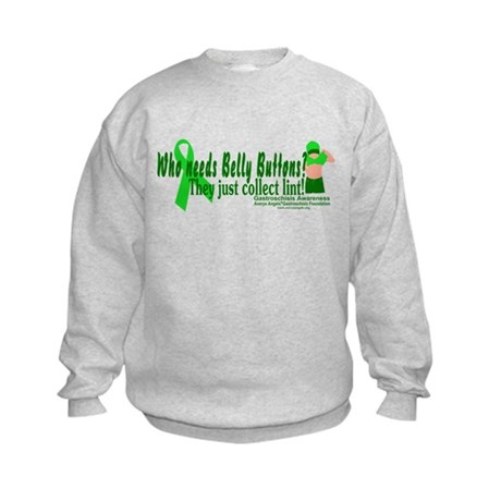 Who needs Belly Buttons? They Kids Sweatshirt