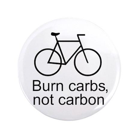 "Burn carbs not carbon cycling 3.5"" Button (100 pac"