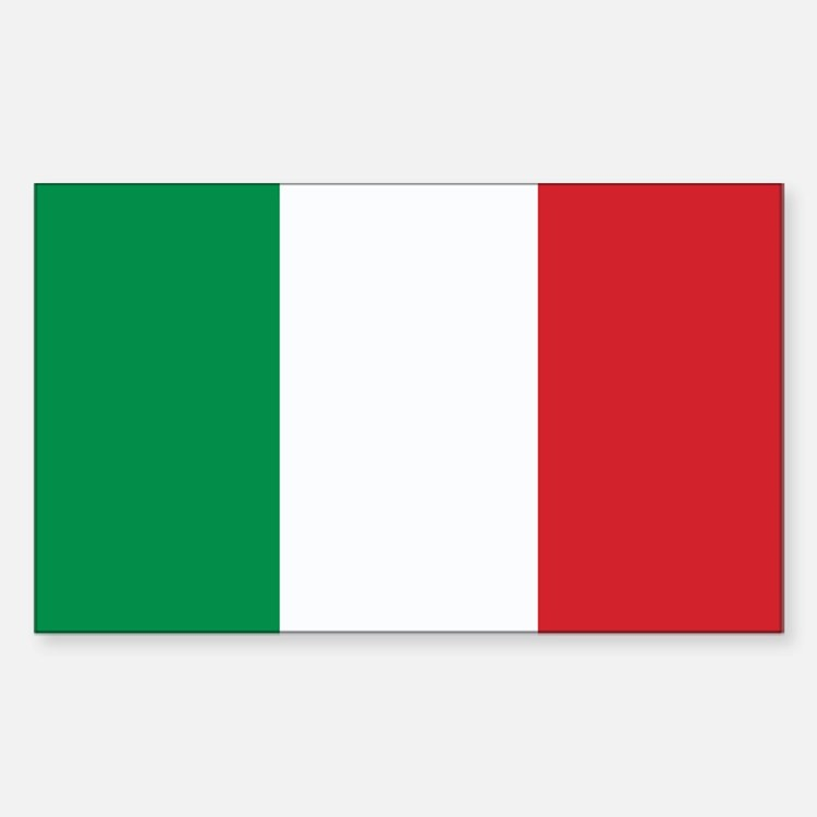 Italy Flag Rectangle Decal