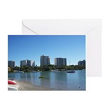 Boats In Sarasota Bay Greeting Card