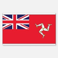 Isle of Man Civil Ensign Rectangle Decal