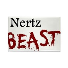 Nertz Beast Rectangle Magnet
