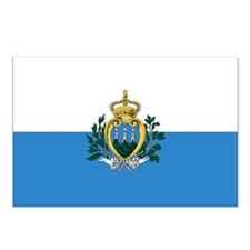 San Marino Flag Postcards (Package of 8)