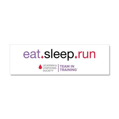 eat.sleep.run Car Magnet 10 x 3