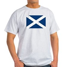 Scottish Flag Ash Grey T-Shirt