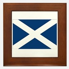 Scottish Flag Framed Tile