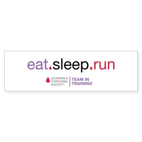 eat.sleep.run Sticker (Bumper)