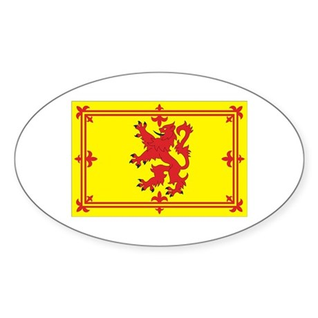 Scottish Coat of Arms Oval Sticker