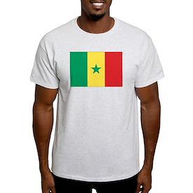 Flag of Senegal Ash Grey T-Shirt