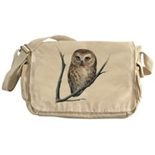 saw-whet owl Messenger Bag