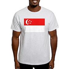 Singapore Flag Ash Grey T-Shirt