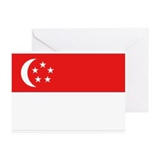 Singapore Flag Greeting Cards (Pk of 10)