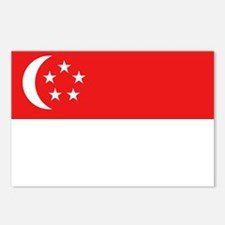 Singapore Flag Postcards (Package of 8)