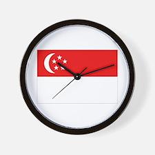 Singapore Flag Wall Clock