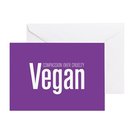 Vegan Compassion Over Cruelty Greeting Card