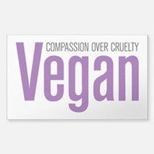 Vegan Compassion Over Cruelty Decal