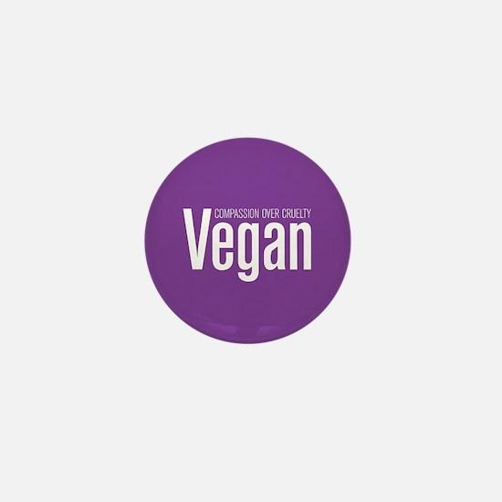 Vegan Compassion Over Cruelty Mini Button