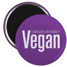 Vegan Compassion Over Cruelty Magnet