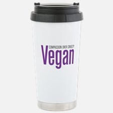 Vegan Compassion Over Cruelty Travel Mug