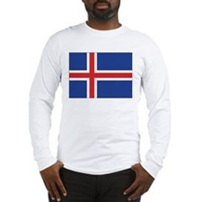 Iceland Flag Long Sleeve T-Shirt