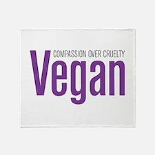 Vegan Compassion Over Cruelty Throw Blanket