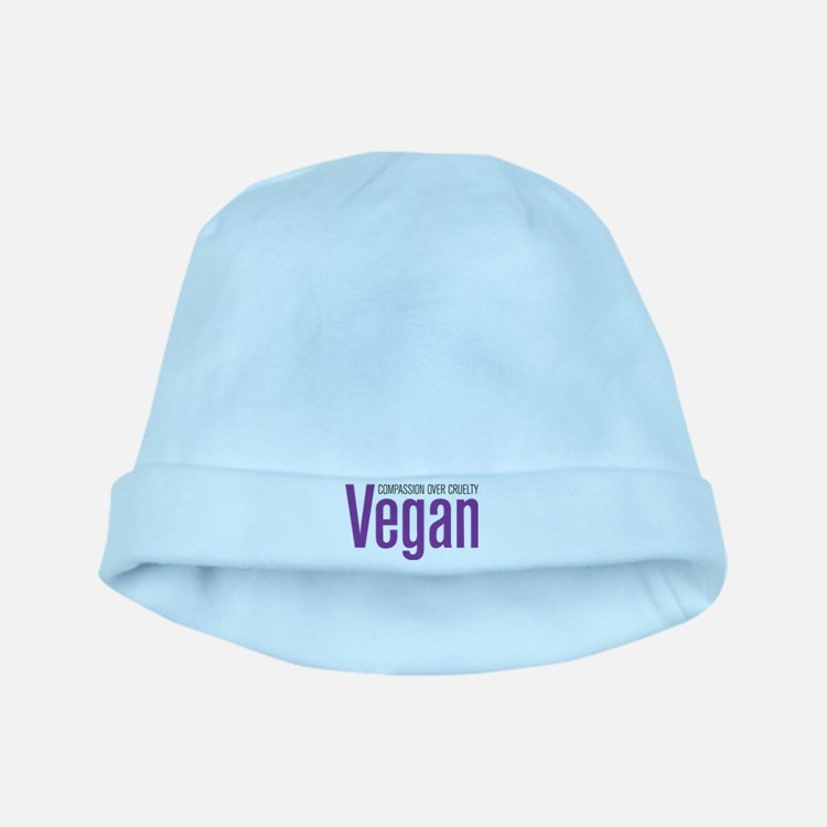 Vegan Compassion Over Cruelty baby hat