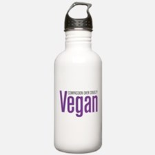 Vegan Compassion Over Cruelty Water Bottle