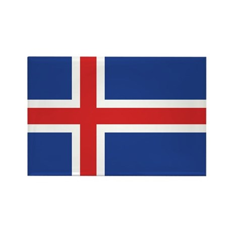 Iceland Flag Rectangle Magnet (10 pack)