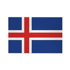 Iceland Flag Rectangle Magnet