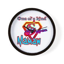 SUPER MAMAW Wall Clock