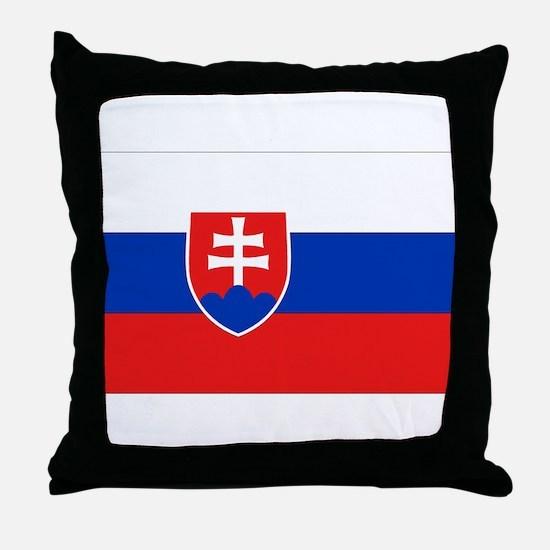 Slovakian Flag Throw Pillow