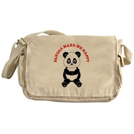 Panda Messenger Bag
