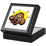 Happy Dachshund Cartoon Keepsake Box